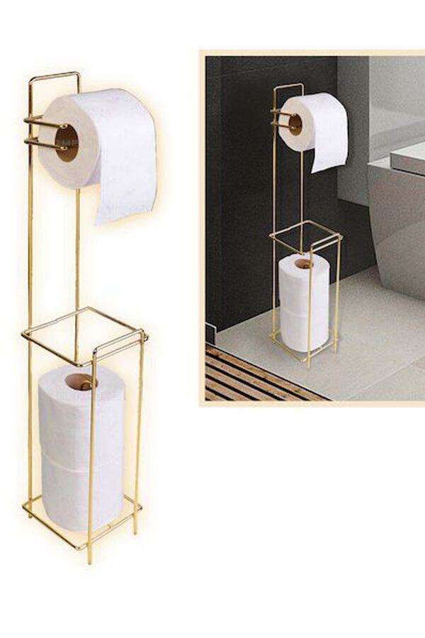 Tuvalet Kağıtlığı Yedekli Gold
