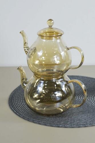 - Vespa - 2'li Gold Cam Çaydanlık