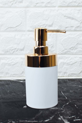 - Yuvarlak Akrilik Sıvı Sabunluk Beyaz