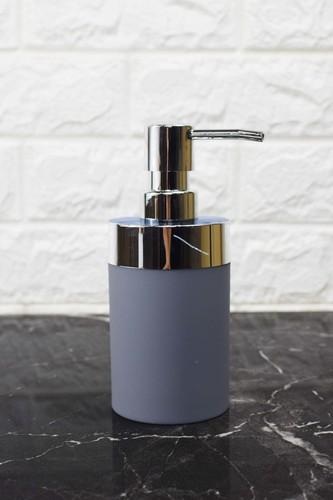 - Yuvarlak Akrilik Sıvı Sabunluk Gri