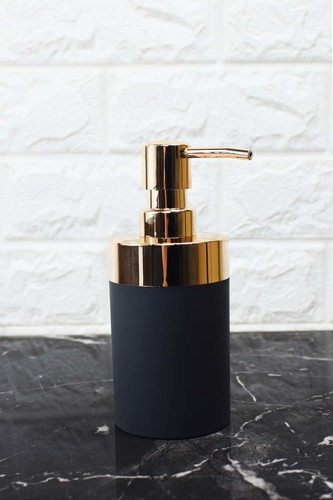 - Yuvarlak Akrilik Sıvı Sabunluk Siyah