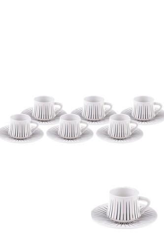- Zebrano - 6 Kişilik Kahve Fincan Takımı