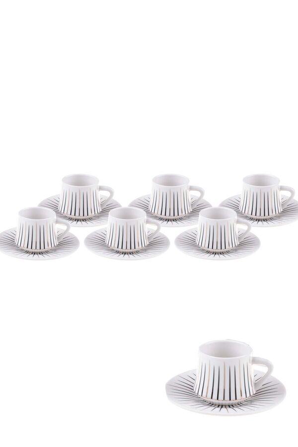 Zebrano - 6 Kişilik Kahve Fincan Takımı